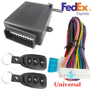 Universal Car Remote Control Central Kit Door Trunk Lock Keyless Security System