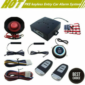 Multi Function Car Alarm System W Passive Keyless Entry Engine Start Set Usa