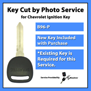 key Cut By Photo Service For Chevy Oldsmobile Saturn Car Key Replacement B96 p