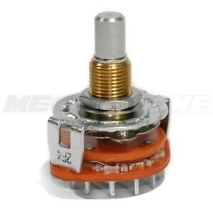 New Alpha 4 Pole 3 Position Rotary Switch Single Deck W pc pins Usa Seller