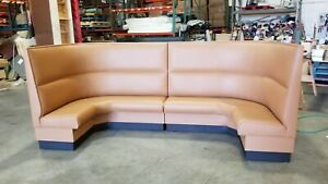Restaurant Booth U Shaped upholstered Channel Back In 36 h 42 h 48 h
