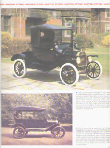 1915 Ford Model T Article Must See Runabout Couplet Touring Car Sedan