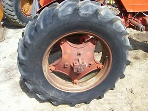 Vintage Ji Case Vac 14 Tractor Rear Wheels Tires 13 6 X 28 1951