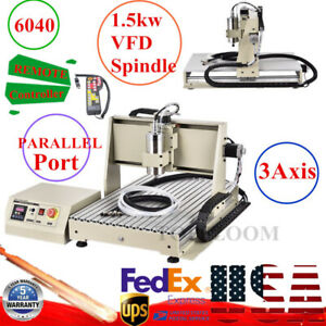 Wood Cnc 3 Axis 6040z Router Engraving Cutting Milling Machine 1 5kw controller