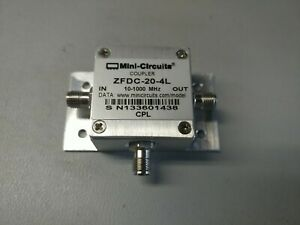 Mini circuits Zfdc 20 4l Coupler 10 1000 Mhz With Mounting Plate qty 1