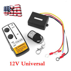 Universal 12v Long Range Wireless Remote Control Kit For Car Suv Truck Atv Winch