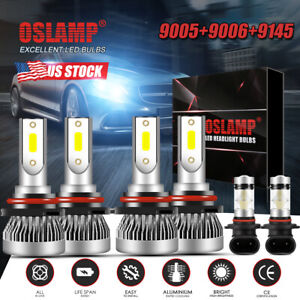 6x Led Headlight Bulbs High Low Beam Fog Lights For Jeep Grand Cherokee 1999 04