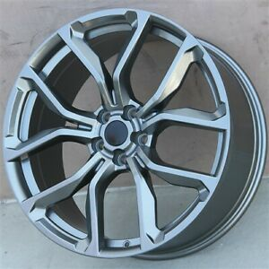 Set 4 22 22x10 Wheels 5x120 Gunmetal Rims For Range Rover Sport Supercharge