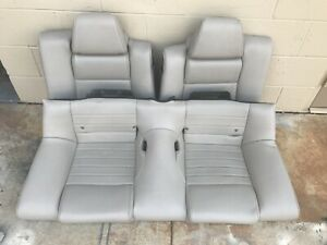 2010 2014 Ford Mustang Coupe Gt Rear Leather Seat White Beige Oem