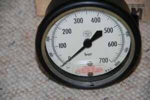 Helicoid 3 1 2 Inch 10000 Psi 700 Bar Pressure Gauge New Old Stock