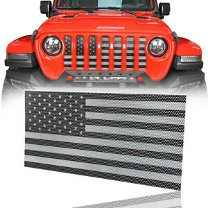 Front Mesh Grille Insert Old Glory For Jeep Wrangler Jl Gladiator Jt 2018 2020
