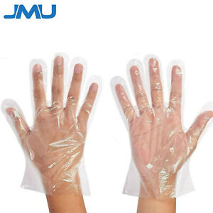 100 10000pcs Plastic Clear Gloves Home Food Cleaning Catering Use Wholesale