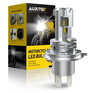 Auxito H4 9003 Hb2 Led Bulb Hi Lo Beam White Motorcycle Headlight High Power M4