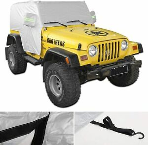 Waterproof Cover Uv Protection Car Cover For Jeep Wrangler Tj 1997 2006
