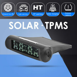 Wireless Tpms Tire Tyre Pressure Monitor System 6 External Sensors For Rv Truck