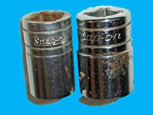 Used Lot Of 2 Snap On Sockets 5 8 Sw 201 Usa 3 4 Sw241 Usa 241 And
