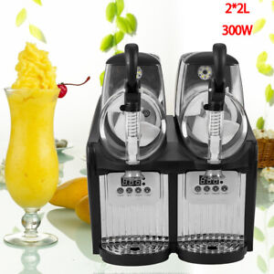 2x2l Commercial Slush Machine Industrial Slush Machine Frozen Drink Machine Usa