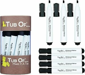 Tub Of Black Dry Erase Markers Chisel Tip 15 Count