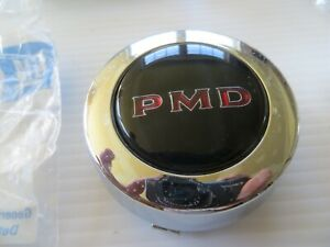 Nos Gm 979299 Gto Pontiac Rally 2 Wheel Center Caps Black With Red Pmd Letters