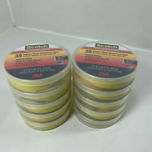 Scotch Professional Vinyl Electrical Tape 35 Yellow 3 4 In X 66 Ft 10 Rolls