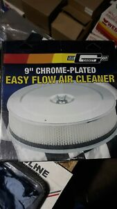 Mr Gasket Chrome Plated 9 Easy Flow Air Cleaner Assembly 1487