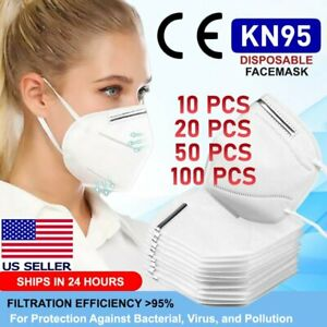 Kn95 Protective Face Mask Disposable Mouth Nose Cover Pm2 5 Respirator Safety