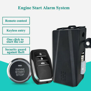 12v Car Alarm Keyless Button Start Remote Control System Central Lock Pke P0w9