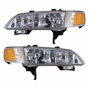 For Honda Accord 1994 1995 1996 1997 Pair New Left Right Headlight Assembly
