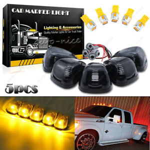 Roof Running Lights Cab Marker Smoke Cover Amber Led Assembly For Ford 99 16