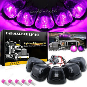 Smoke Roof Running Lights Cab Marker Pink Purple Led Kit For Ford F 350 E 450