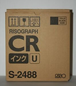 2 two Riso Brand Risograph Ink S 2488 Black Ink 800ml ea