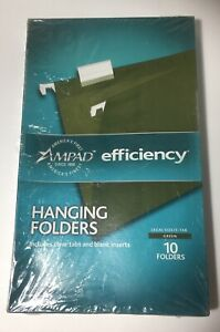 Ampad Hanging Folders legal Size 5 Tab 10 Folders Green