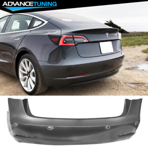 Fits 17 20 Tesla Model 3 Oe Style Replacement Rear Bumper Cover Pp