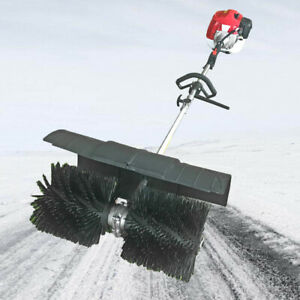 52cc Hand held Walk Behind Sweeper Snow Garden Driveway Cleaning Gas Power 2 3hp