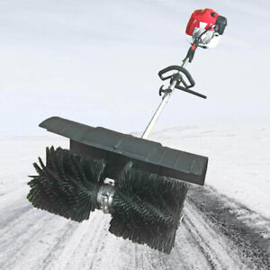 52cc Hand held Walk Behind Sweeper Garden Snow Driveway Cleaning Gas Power 2 3hp