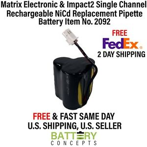 Matrix Electronic Impact2 Single Channel Rechargeable Pipette Battery