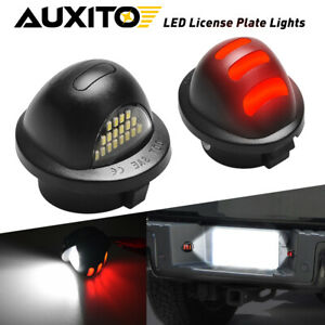 2x Auxito Red Neon Tube Led License Plate Tag Light Pair For 1990 2014 Ford F150