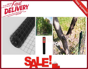 Welded Wire Fence Panels Black Pvc Coated Mesh 4 X 50 Ft Galvanized Steel New