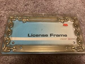 Gold Color Metal Chain License Plate Frame Cruiser Accessories Cars And Trucks
