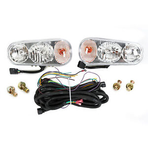 Universal Snow Plow Light W Halogen Bulb For Boss Western Meyer Blizzard Curtis