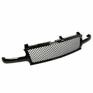 Black Mesh Front Hood Grill Grille For 99 02 Silverado 00 06 Tahoe Suburban
