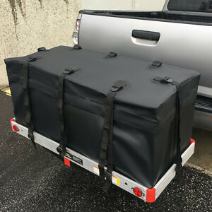 47 Folding Hitch Mount Cargo Carrier Rack W Water Resistant Luggage Cargo Bag