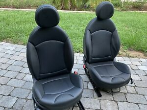 08 13 Mini Cooper S Clubman Leather Front Seats Right And Left