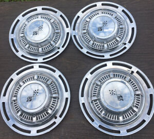Vintage 1958 Set Of 4 Chevrolet Chevy Belair Impala 14 Hubcaps Wheel Covers
