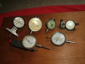 Mixed Lot 6 Dial Test Indicator 2 Starrett 1 federal 1 ames 0001 0005 001