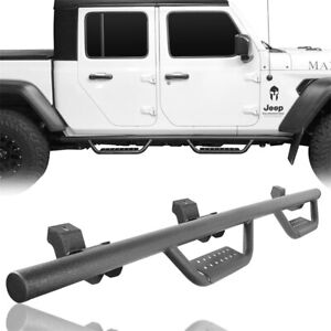 Pair Running Boards Nerf Bars Side Step Fit 2020 Jeep Gladiator Jt Truck Pickup