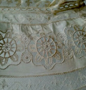 Antique Lace Trim Fragment Doll Clothes Cutter Sewing Restyle Diy