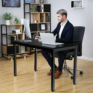 Computer Desk Pc Laptop Wood Writing Table Modern Home Office Study Workstation
