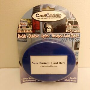Blue Car Card Caddie Outdoor Indoor Business Card Holder New Made In Usa