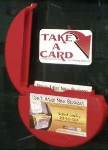 Set Of 2 Red Car Card Caddie Outdoor Indoor Business Card Holder New